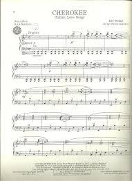 cherokee sheet music tredwellsmusic com cherokee ray noble accordion solo arr charles