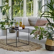bloomingville patterned oval jute rug natural 182x121cm