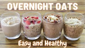 Oatmeal will start your day off right with complex carbs and fiber. Overnight Oats 5 Easy Healthy Recipes Youtube