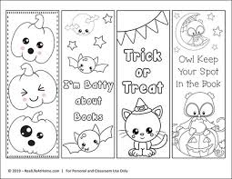 These halloween doodle colouring bookmarks would be a great way to keep early arrivers busy at a halloween party and would give them a fun momento to take away. Free Printable Color Your Own Halloween Bookmarks Coloring Bookmarks Free Bookmarks Kids Coloring Bookmarks