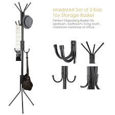 Coat Rack Free Standing Free Standing Coat Rack MaidMAX Hall Tree Hat And Clothes Rack With 41