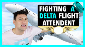 FIGHTING A DELTA FLIGHT ATTENDANT YouTube