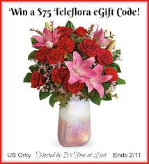 Enter to #Win a Teleflora $75 E-Gift Card for Valentine's Day ...