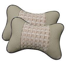 2PCS Breathable Car Soft Headrest Cushion Pillow Four Season ...