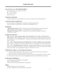 Cover Letter Medical Stunning Medical Technologist Cover Letter X Ray Tech Resume Tech Resume