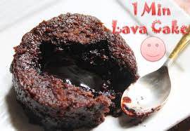 microwave eggless molten lava cake recipe 1 min lava cake recipe