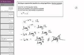 23 02 solving an exponential equation by using logarithms decimal answers