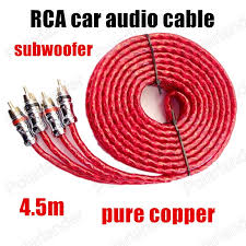 popular subwoofer wire adapter buy cheap subwoofer wire adapter Subwoofer Speaker Wire Adapter a 4 5m pure copper red car stereo audio cable wire line 4 5m pure copper subwoofer cable to speaker wire adapter