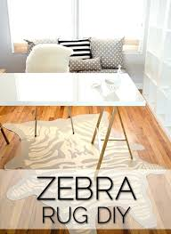 the infamous faux zebra rug diy home office animal skin