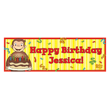 Happy Birthday Banners Personalized The Official Pbs Kids Shop Curious George Happy Birthday Banner
