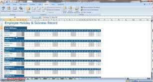 time tracking excel sheet employee annual leave sickness tracker youtube