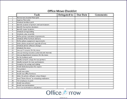 Template Moving Office Template Checklist Free Templates Relocation
