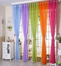 Orange Bedroom Curtains Free Shipping Multicolors Sheer Curtain White Purple Blue Green