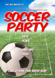 Soccer Party Invite Free Kids Party Invitations Soccer Party Invitation