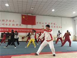 african students learn kung fu and