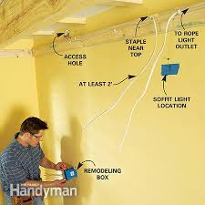 how to build a soffit box recessed lighting the family handyman photo 6 wire the lights