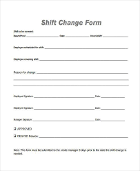 Employee Change Form Simple Shift Change Form Ibovjonathandedecker