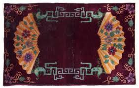antique chinese art deco rug 1920s 2