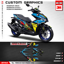 Aerox Decals Design Us 159 89 Kungfu Graphics Custom Vinyl Stickers Vehicle Wraps Full Decal Kit Vinyl For Yamaha Nvx 155 Nvx155 Aerox 155 Blue In Decals Stickers