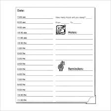 daily calendar template word hourly schedule template 30 free word excel pdf format free