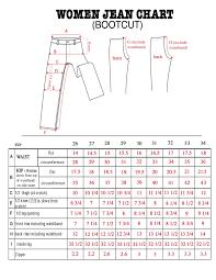 Women S Jean Size Chart Womens Jean Sizes Bod Jeans For Womens Jean Size Chart