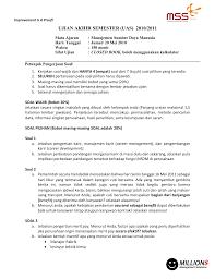 Report soal uas seminar msdm please fill this form, we will try to respond as soon as possible. Ujian Akhir Semester Uas 2010 2011