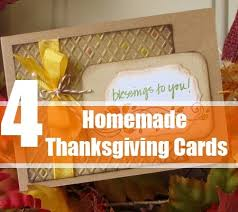 How To Make Homemade Thanksgiving Cards Ideas For Making Homemade