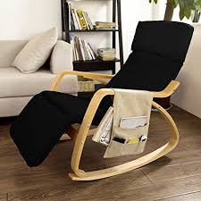 Chair Design Ideas, Comfortable Chair For Reading Black Fabric Lounge Chair  With Wooden Arm And