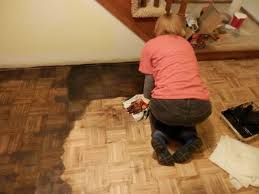 Amazing Now I Know There Are Better Ways Of Applying Floor Stain But I Went With  What Design