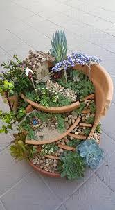 fairy garden ideas with broken pots