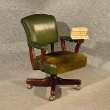 leather antique wood office chair leather antique. Vintage Leather Antique Wood Office Chair D