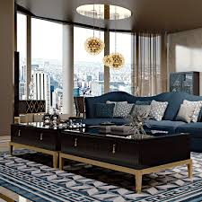 art deco inspired mirrored coffee table