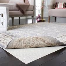 grid flat non slip rug pad 5 x 8