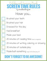 Holiday And Summer Break Screen Time Rules For Kids Fun