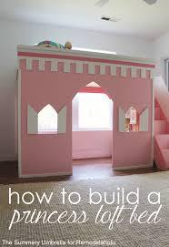Princess Castle Bedroom Remodelaholic How To Build A Princess Castle Loft Bed