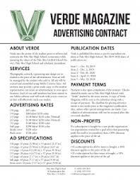 Advertise Verde Magazine
