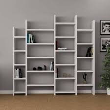 White modern bookshelf Pearl Nerita Bookcasebookcasewhitecontemporary Bookshelf Modern Designer Bookcases Room Dividers Paolarojasco Up To 70 Off Bookcases