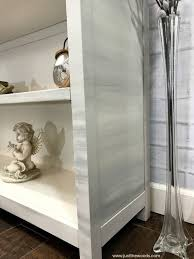 laminate furniture makeover. Neutral Gray And Cream Painted Furniture, Bookcase, Best Primer For Laminate Furniture Makeover A
