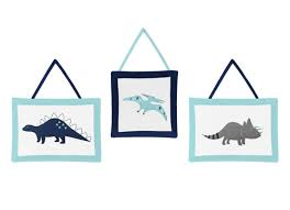 mod dinosaur blue and green collection