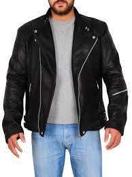 stylish black biker jacket black leather biker jacket