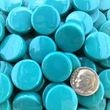 sweetie penny rounds sr54 turquoise glass mosaic