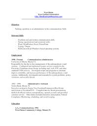 Resume Example Of Communication Skills Resume Ixiplay Free