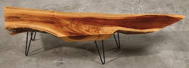customized coffee and console tables by wood fusion