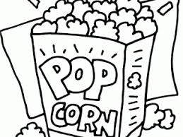Small Picture Popcorn coloring coloring activity pages popcorn coloring page