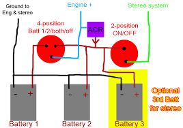 automatic charging relay wiring diagram automatic 3 battery wiring question on automatic charging relay wiring diagram