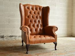 leather chesterfield chair. Traditional Handmade Tan Boss Leather Chesterfield Chair T