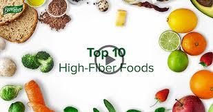 High Fiber Fruits And Vegetables Chart Top Ten High Fiber Foods