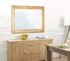 aston oak wall mirror aston solid oak wall mirror