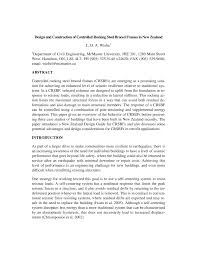 pdf design and construction of controlled rocking steel braced frames in new zealand