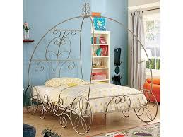 Furniture of America Enchant II Full Size Princess Carriage Metal ...